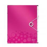 Třídicí kniha Leitz WOW, 12 částí Metalická růžová A4 kapacita 200listů