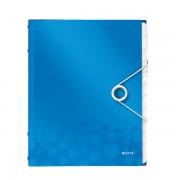 Třídicí kniha Leitz WOW, 12 částí Metalická modrá A4 kapacita 200listů