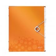 Třídicí kniha Leitz WOW, 12 částí Metalická oranžová A4 kapacita 200listů DOPRODEJ!!!