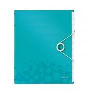 Třídicí kniha Leitz WOW, 12 částí Ledově modrá A4 kapacita 200listů