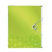 Třídicí kniha Leitz WOW, 12 částí Metalická zelená A4 kapacita 200listů DOPRODEJ!!!