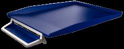 Odkladač s přihrádkou na pero Leitz Style Titanově modrá