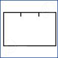 Etikety pro et.kleště dvouřadé 26 x 16 mm bílé permanentní hranaté 6 x 1000 ks