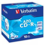 CD-R Verbatim Super AZO 52x 700MB 10_ks_Jewel_box Crystal