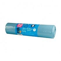 Odpadkové pytle na třídění odpadu 120L, 40µm 25ks  modré
