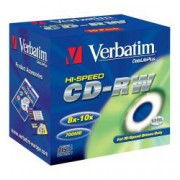 CD-RW Verbatim DLP High speed 8x-10x 700MB 10 ks Jewel Silver