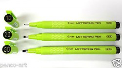 Pero kaligrafické Pilot Lettering Pen 2,0 mm černá