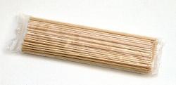 Špejle dřevěné se špičkou délka 30 cm 100ks