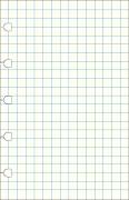 Poznámkový blok FILOFAX NOTEBOOK kapesní - A7 náhradní listy čtverečkované