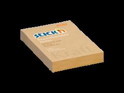 Samolepicí bloček Stick'n Kraft 76 x 51mm přírodní hnědá 100kusů