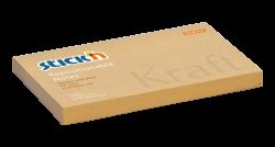 Samolepicí bloček Stick'n Kraft 76 x 127mm přírodní hnědá 100kusů