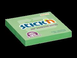 Samolepicí bloček Stick'n 76 x 76mm zelená 360° celoplošně lepící 100 lístků