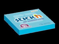 Samolepicí bloček Stick'n 76 x 76mm modrá 360° celoplošně lepící 100 lístků