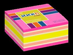 Samolepicí kostka Stick'n 76 x 76mm mix neonově růžová 400 listů