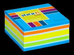 Samolepicí kostka Stick'n 76 x 76mm mix neonově modrá 400 listů