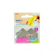 Samolepící plastové záložka Stick'n ve tvaru šipky extra silná, 2x10 záložek, růžová+modrá
