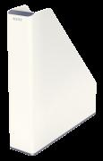 Dvoubarevný stojan na časopisy Leitz WOW bílo-šedý