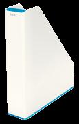 Dvoubarevný stojan na časopisy Leitz WOW bílo-modrý