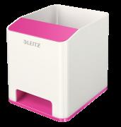 Hudební stojánek na tužky Leitz WOW růžovo-bílý