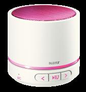 Přenosný mini Bluetooth reproduktor s mikrofonem Leitz WOW růžovo-bílý