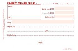 Příjmový pokladní doklad OPTYS  A6 NCR nečíslovaný OP1318