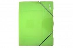 Desky se 3 chlopněmi a gumičkou PP eCollection  zelené