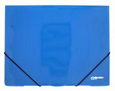 Desky se 3 chlopněmi a gumičkou PP eCollection  modré