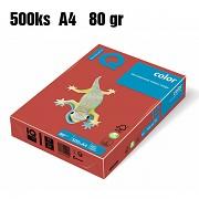 Papír IQ Color barevný A4 80g korálově červená CO44
