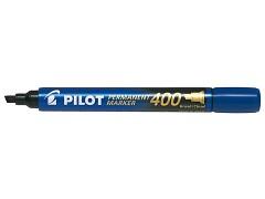 Popisovač perm. Pilot 400 klínový hrot modrý