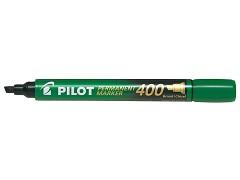 Popisovač perm. Pilot 400 klínový hrot zelený