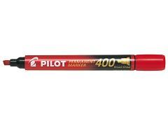 Popisovač perm. Pilot 400 klínový hrot červený