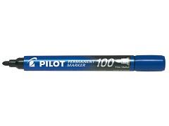 Popisovač perm. Pilot 100 kulatý hrot modrý
