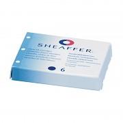 Náplň do plnicích per SHEAFFER 6 kusů v krabičce modrá
