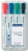 Popisovač STAEDTLER Lumocolor 351 na bílé tabule kuželový hrot 2 mm 4-sada