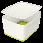 Úložný box s víkem Leitz MyBox®, velikost M zelený