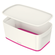 Úložný box s víkem Leitz MyBox®, velikost S růžový