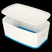 Úložný box s víkem Leitz MyBox®, velikost S modrý