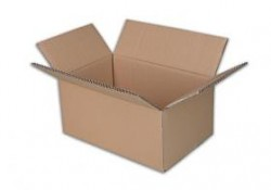 Krabice kartonová klopová 5VL 400x300x300 mm hnědá