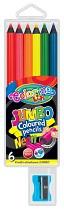Pastelky COLORINO JUMBO 6sada neonové barvy kulaté + ořezávátko