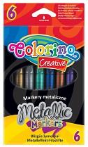 Popisovače COLORINO metalické 6 barev