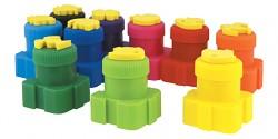 Prstové barvy COLORINO 5 barev s razítky