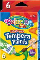 Temperové barvy COLORINO v tubě 6 barev 12ml