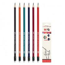 Tužka M&G grafitová trojhranná HB s gumou