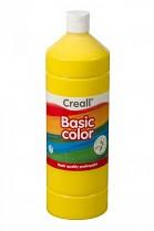 Temperová barva CREALL školní 1000ml žlutá
