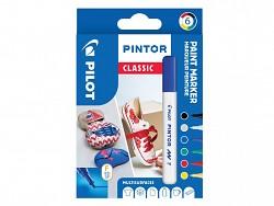 Popisovač pigmentový Pilot PINTOR pro DIY použití hrot F 6-sada Classic