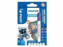 Popisovač pigmentový Pilot PINTOR pro DIY použití hrot F 6-sada Fun (Creative)