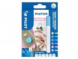 Popisovač pigmentový Pilot PINTOR pro DIY použití hrot F 6-sada Pastel