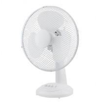 Ventilátor stolní 30 cm, 3 rychlosti, bílý, 40 W