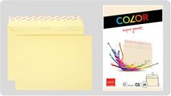 Obálka ELCO Color C5 100g s krycí páskou 25ks chamois
