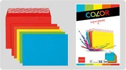Obálka ELCO Color C5 100g s krycí páskou 20ks mix 5 barev